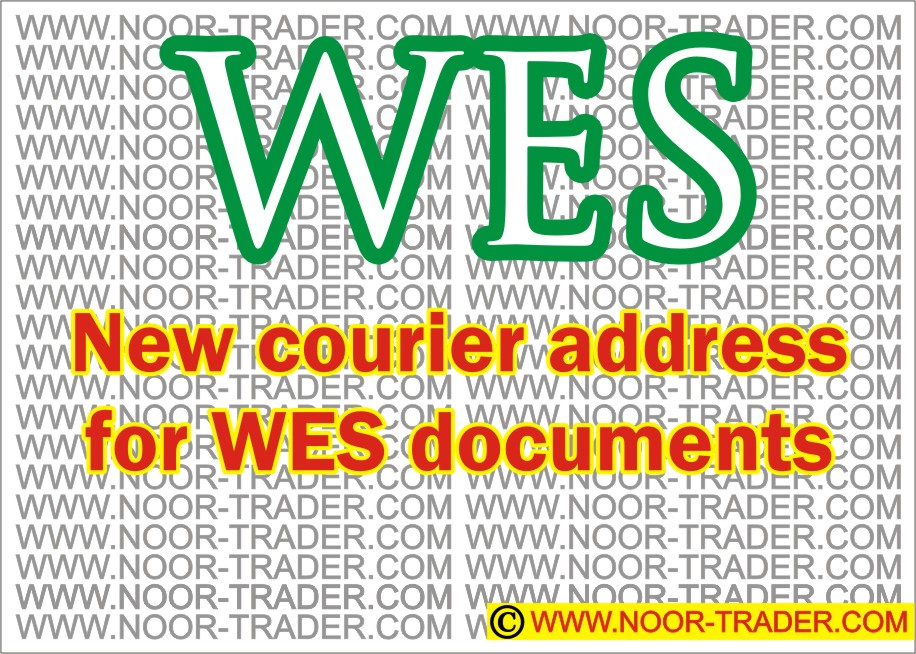 WES new courier address for all – Important notice